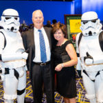 Jim and Tina Bradshaw along with Storm Troopers.